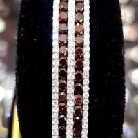 PROMO Gelang Mewah ASLI EMAS 18k 75% Full Berlian Natural Diamond ZX4
