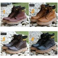 TERLARIS DAN BEST SELLER Sepatu Boots Black Master Cat Pria Murah -