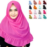 Pashmina Instan Rempel Mecca Pastan Jilbab Instan Khimar Hijab Instan
