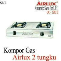 kompor gas airlux steinless 2 tungku Limited