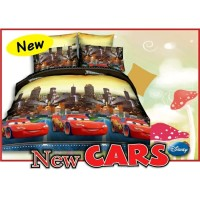 Bed Cover Set Sprei Fata Size King Motif New Cars Murah