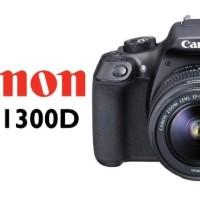 MURAH CANON EOS 1300D + LENSA 18-55 III WIFI / KAMERA DSLR CANON 1300D
