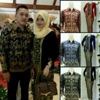 Batik Couple Sarimbit Jumbo Seragam Pesta Baju Muslim Kebaya Kutubaru