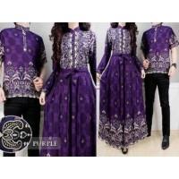 2638 couple batik remaja baju formal maxi dress muslimah ungu murah