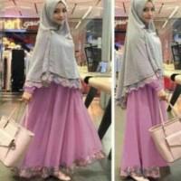 BAJU MUSLIM DRESS syafina gamis maxi syari baju muslim remaja wanita