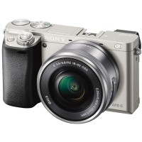 Sony Kamera Alpha A6000 Kit Lensa E 16-50mm F3.5-5.6 OSS warna Silver