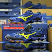 Sepatu Volley Mizuno Wave Bolt 5 (Blue/yellow)