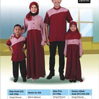 Sarimbit Keluarga - zenitha - ZN 330 Maroon - Baju Muslim Keluarga