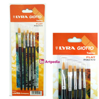 LYRA ART BRUSH SET FLAT / KUAS FLAT SET