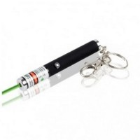 Green Light Laser Pointer Pen with Keychains 4MW - A-LPP-004 - Black