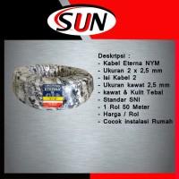 Kabel Eterna 2 x 2,5 mm Isi 2 SNI Per Roll 50 meter GRAB / GOJEK