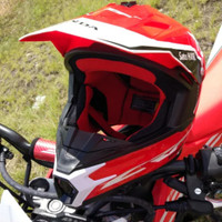 Helm Helmet Cross Trail Honda CRF 150 250 Original Red White M L XL