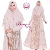Gamis Syari Brokat Kayla 3 by Bungas. Dress Pesta. Kebaya. Baju Muslim