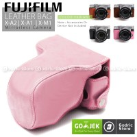 Fujifilm X-A2/X-A1/X-M1 Leather Bag/Case/Tas Kamera