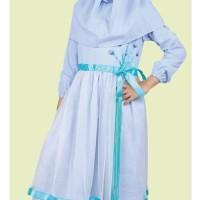 Baju Muslim Anak Koko Pakistan Gamis Dress Mukena Wanita Pria Biru