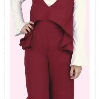 Baju Muslim Koko Pakistan Gamis Dress Casual Wanita Pria Anak Maroon