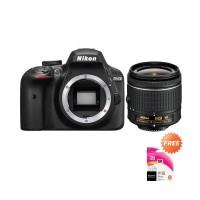 Nikon D3400 Kamera DSLR   Free Lensa AF-P 18-55mm VR   Memory Sony 8