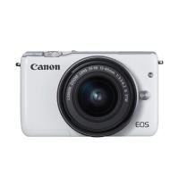 Canon EOS M100 Kamera DSLR with Lensa EF-M15-45mm - White