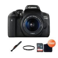 Canon EOS 750D 18-55mm IS STM Kamera DSLR   Free Tas Kamera Canon