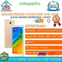 HP XIAOMI REDMI 5 PLUS 3 32 GOLD ANDROID XIOMI RAM 3GB INTERNAL 32 GB