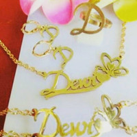 Perhiasan Nama 1 Set Lapis Emas