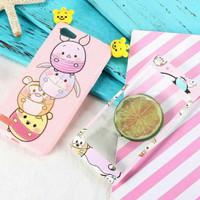 Paket Casing Karakter Handphone Case Hp OPPO A83 Dan Tempered Glass