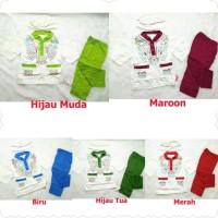 Baju Koko Bayi Setelan Baju Muslim Bayi Laki Laki Trend Halim Merah