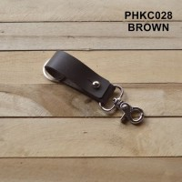 Gantungan kunci kulit asli leather keychain hook bronze - PHKC028 Gant