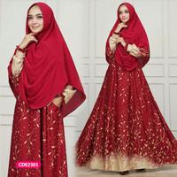 Gamis wanita muslim dress syari aurel