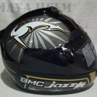 helm BMC jazz corak 13 black doff gunmetal gloss