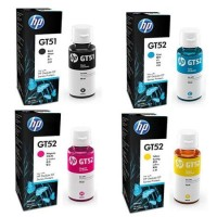 Tinta HP GT51 & GT52 Original Semua Warna - Tinta Printer HP GT5810