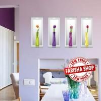 Vase Flowers II SK9073A - Stiker Dinding / Wall Sticker