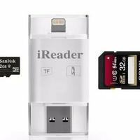 Jual IREADER IPHONE IPOD IPAD MINI LIGHTNING CARD READER I-FLASH MICRO SD Murah