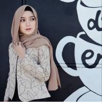Hijab/Jilbab/Segi Empat/Square/Pashmina/joy scarf mocca