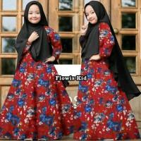 Harga tanah abang d230518 set hijab gamis syari kid flowiskid   Pembandingharga.com