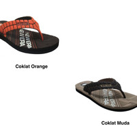 Sendal Jepit Sandal Jepit Pria NEW ERA Subaru Coklat Orange Size 41/43