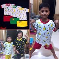 Setelan Anak Laki Perempuan BUAH Manis Baju Pakaian Couple Lucu MARUNO
