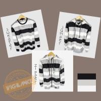Hoodie Jumper Sweater Salur Katun Kualitas Distro