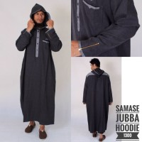 Baju Jubah Hooded Kupluk Model Samase Baju Muslim Pria Modern