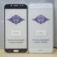 Tempered Glass Full Cover Samsung J5 Pro dan J7 Pro ( Full Lem )