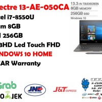 HP SPECTRE X360 AE050CA i7-8550U 8GB 256SSD FHD WIN 10 BlackGold
