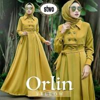 Baju Muslim Wanita Orlin Dress trendy gamis cantik stylis