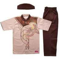 Baju Muslim Koko Anak Laki-laki Stelan Setelan Pendek Set Peci AN 4-3