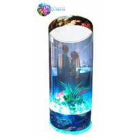 Aquarium tipe V3 custom foto || mini portable || lampu tidur