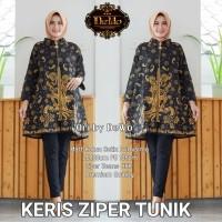 Dress Batik Wanita Berkualitas Keris Ziper Tunik