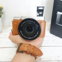 Kamera mirrorless fujifilm xa2 brown bukan dslr nikon canon sony