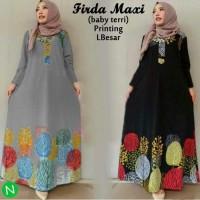 L4422 Firda Maxi Gamis Busana Muslim Wanita Syari Jepang Jumbo Model