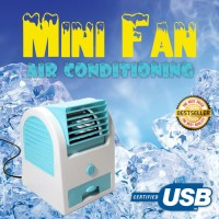 Ac Duduk Mini Portable Handy Cooler Fan Kipas Angin Single Blower