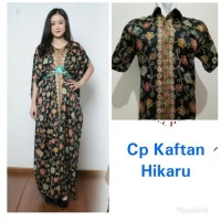 Couple Dress Maxi Gamis Kaftan Jumbo Inayah dan Kemeja Batik Pria