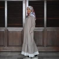 Gamis katun polos sehari-hari/pengajian/baju lebaran wanita muslimah